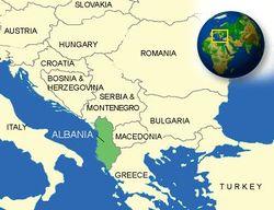 Местоположение на Албания