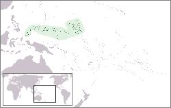 ミクロネシアの位置