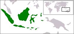 インドネシアの位置