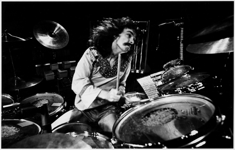 Neil Peart After His Glory Days Stripped Of Pants And Playing For The Not So Famous Elementary School Dance Band Hit Rush