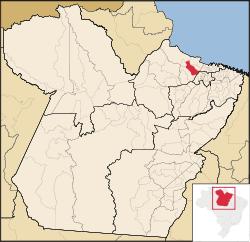 Localização de Cachoeira do Arari