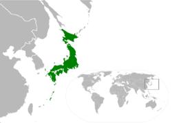 真日本の位置