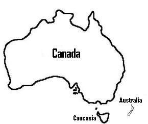 Australia. Observe just how little New Zealand is
