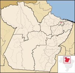 Localização de Santa Bárbara do Pará