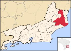 Localização de Campos dos Goytacazes