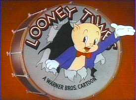 Porky and his trademark ending of all the Looney Tunes.