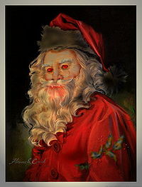 "Satan Claus, shortly after devouring the ""snack"" left for him."
