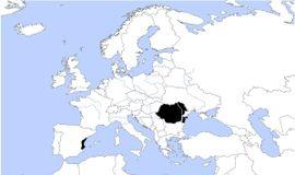 Localização de Romênia