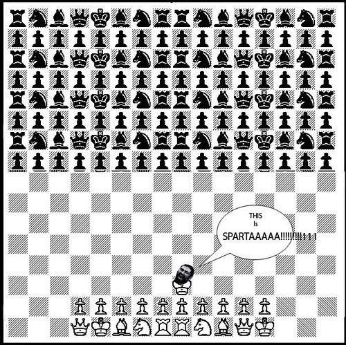 Estilo espartano de se jogar xadrez, há muito tempo não praticado.