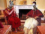 Dalai Llama meet Llama Jesus in 1990.