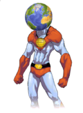 Early designs for Captain Planet were quite different from the final version.