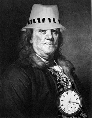 Ben Franklin, kickin' it oldschool
