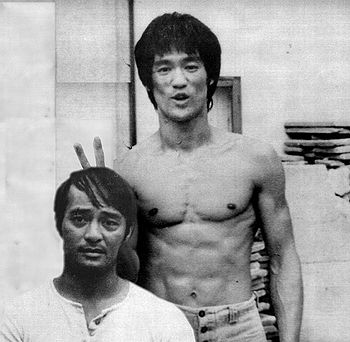 Bruce Lee and Dan Inosanto