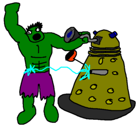 Hulk vs Dalek