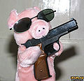 Boer pig with handgun.jpg