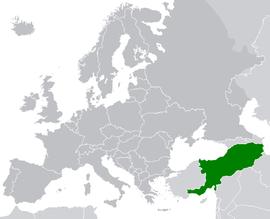 Localização de República Socialista Soviética da Armênia