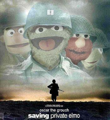 """""Saving"""" Private Elmo"