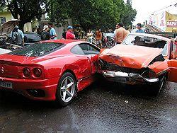 Car Crash Horse Buggy