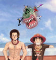 Ace and Luffy by Bayko by Bayko1.jpg