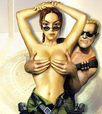 Duke Nukem e Lara Croft.jpg