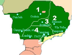 Mapa da República Interior. Clique para entender os número.