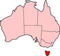 Tasmania in Australia map.png