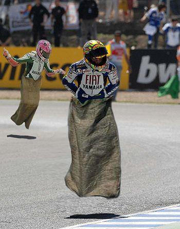Professional Potato Sack Racing