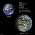 Gliese 581 c ⁄ Earth Comparison.png