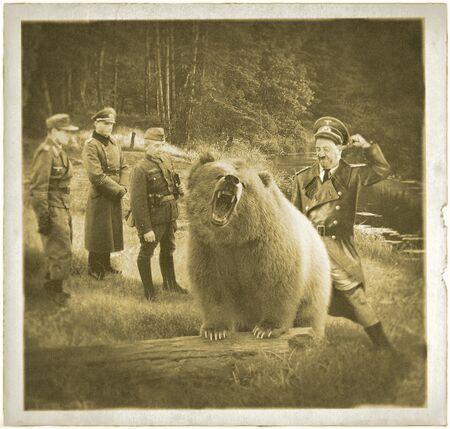 Hitler fucking a bear