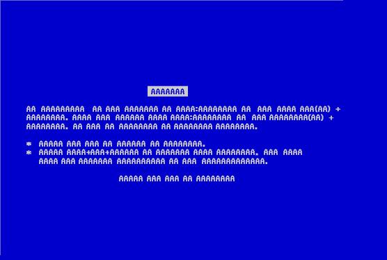 Tiedosto:Blue Screen of AAAAA.jpg