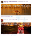 Jesus Fox and Satan Fon in facebook.png