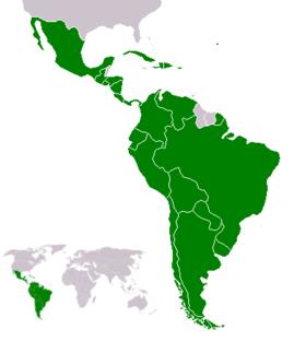 Localización de América Latina