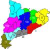 Rexións de Cataluña entre 1936 e 1939.