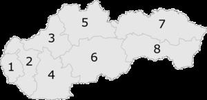 Regiones de Eslovaquia