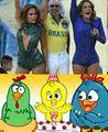 JLo Pitbull e Claudia Leite Galinha Pintadinha.jpg