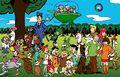 Personaxes de Hanna-Barbera no parque.jpg