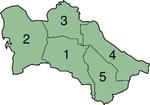 Provincias de Turcomenistán.