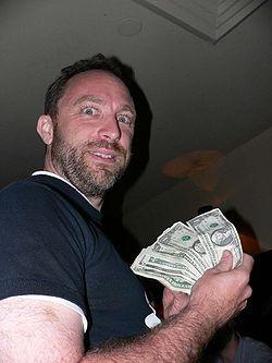 No dia que extraiu muito dinheiro da Wikipédia.