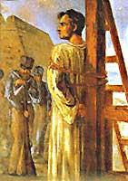 Frei Caneca antes de ser executado por pedofilia