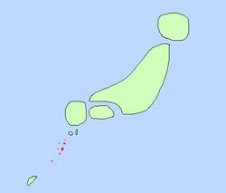 トカラ人民共和国の位置