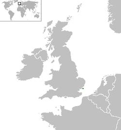 シーランド公国の位置