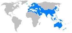 ローマ帝国の位置