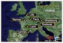 フランスの位置
