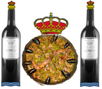 Coat of arms of Spain with Paella.png
