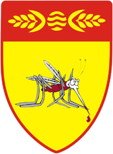 Coat of Arms of Kočani (with a mosquito).png