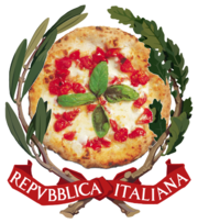 Coat of arms of Italy with Pizza.png