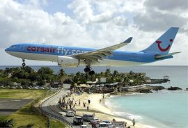 Corsair Airbus A330 at Princess Juliana Airport.jpg