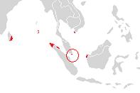 Topografie; de hoofdstad is aangegeven met een cirkel