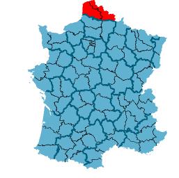 De locatie van Frans-Vlaanderen.