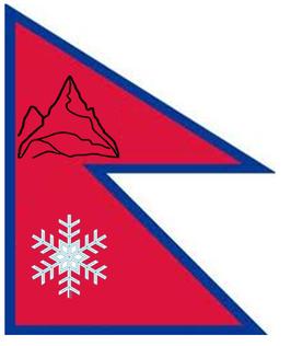 De vlag van Nepal